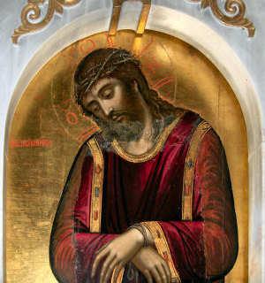 Εἰκόνα τοῦ Χριστοῦ ἑλκομένου πρὸς τὸν Πιλᾶτο, 17ος αἰ.