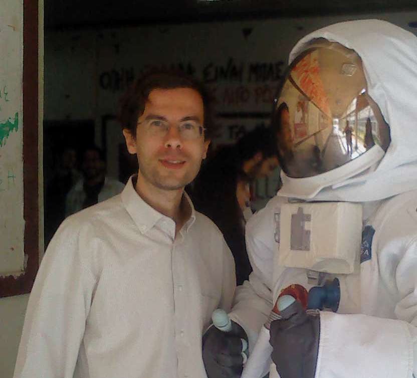 In the Department  of Mathematics with a cosmonaut